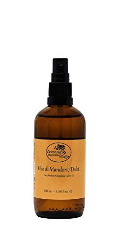 Olio di Mandorle Dolci Puro al 100% - 100 ml - Ideale come emolliente e lenitivo per le pelli...