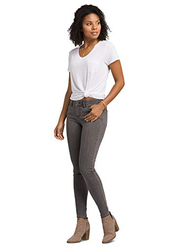Prana London Jeans, Damen, London Jean - Tall Inseam, Grey Denim, 2 Tall