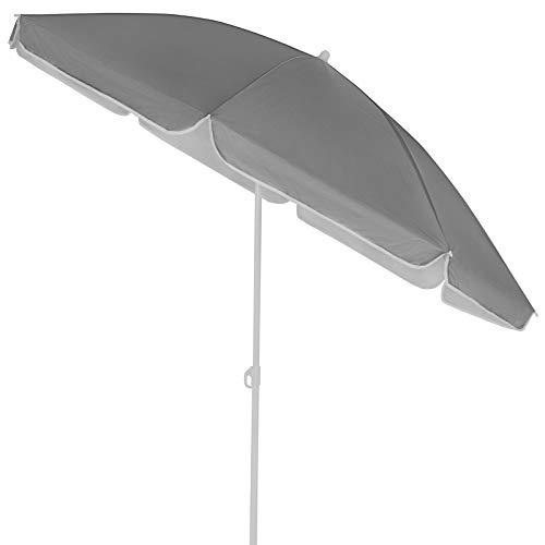 Kingsleeve Sonnenschirm 200 cm UV Schutz 50+ Neigbar Wasserabweisend Balkonschirm Gartenschirm Strand Balkon anthrazit