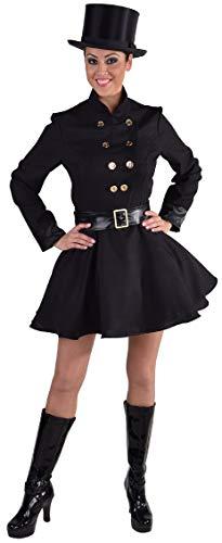 narrenkiste M216125-L schwarz Damen Schornsteinfeger Kaminfeger Kostüm Gr.L