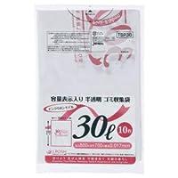 ジャパックス 容量表示入りゴミ袋 ピンクリボンモデル 乳白半透明 30L TSP30 1パック(10枚) ×60セット