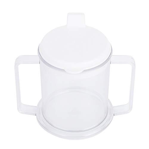 BLLBOO schnabeltasse senioren-Doppelte Griff Tasse Leichtes Wasser Trinkbecher spritzwassergeschützte Sippy Tasse for Kinder Senioren