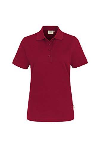 HAKRO Damen Polo-Shirt Performance - 216 - weinrot - Größe: 4XL