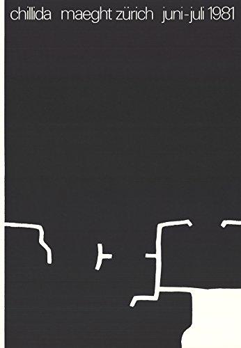 EDUARDO Chillida Maeght Zurich - Litografía (1981 x 16,5 cm), color blanco y negro