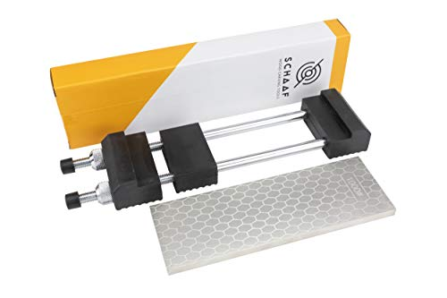 Schaaf Tools 400/1000 Grit Diamond Sharpening Stone | 8 x 3 Inches | Universal Base | Spray Bottle | eBook Included