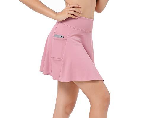EAST HONG Women's Golf Skort Tennis Running Workout Skort (X- Large, Pink)