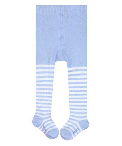 FALKE KGaA FALKE Unisex Baby Strumpfhose Stripe, Baumwolle, 1 Paar, Blau (Powder Blue 6250), 12-18 Monate (80-92cm)