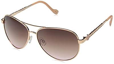 Jessica Simpson J5702 Aviator Sunglasses, Rose Gold & Rose, 60 mm
