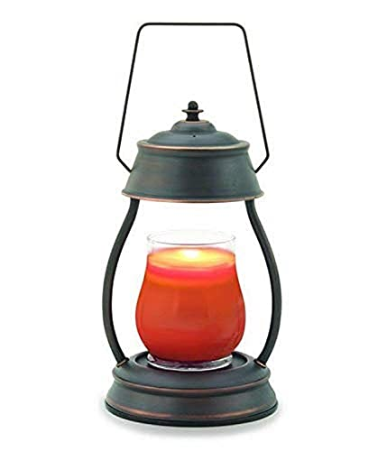 Candle Warmers Etc Hurricane Candle Warmer Lantern For Top-Down Candle Melting, Oil Rubbed Bronze