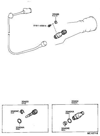 Toyota Superlatite 33404-35010 Speedometer Shaft Assembly Sub Sleeve Cheap