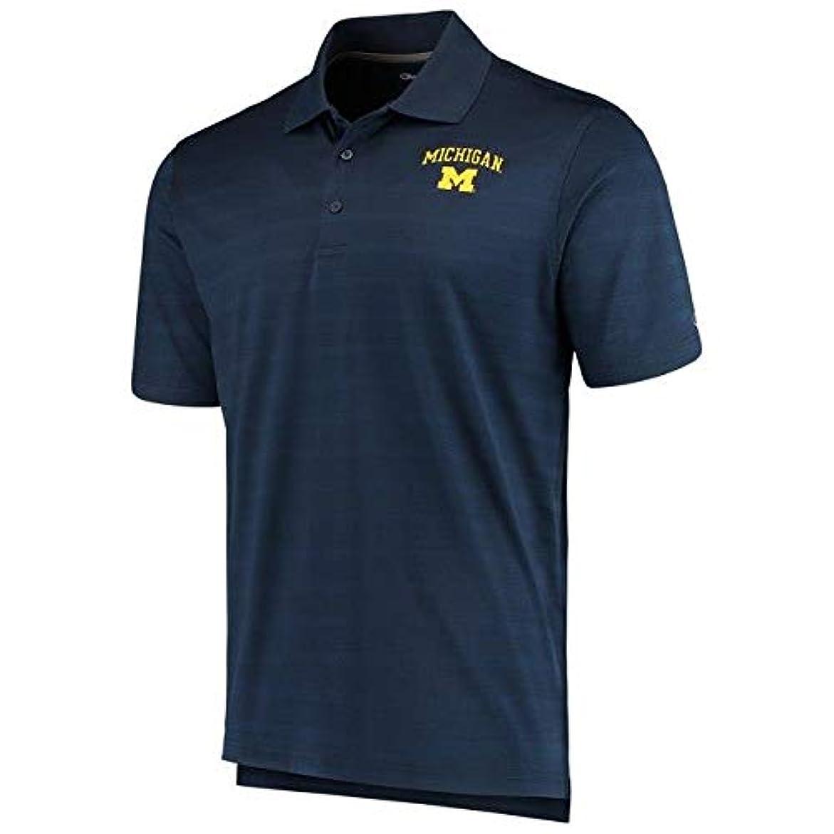キャッチセージブートChampion Champion Michigan Wolverines Navy Textured Polo スポーツ用品 【並行輸入品】