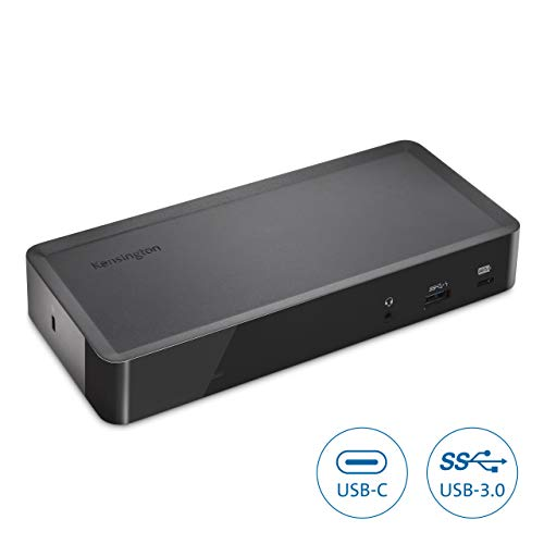 Kensington SD4700P USB-C or USB-A 135 Watts Dual Display Docking Station with Power Delivery for Windows PC's, Surface Pro, Surface Laptops, and MacBooks - TAA Compliant (K38240NA)