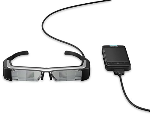 Epson Moverio BT-200 intelligente Multimedia-Brille mit Polysilizium-TFT-Aktivmatrix (VGA-Sensor Kamera, 1,1 cm (0,4 Zoll) LCD-Display, v3.0 Bluetooth, WLAN, USB 2.0)