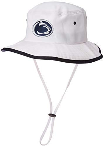 NCAA Zephyr Penn State Nittany Lions Mens Pontoon Bucket Hat, Small, White