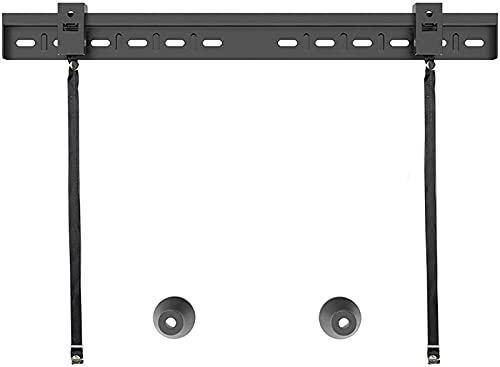 Soporte para TV mejorado Soporte para TV montado en la pared Soporte para TV fijo de pared de perfil bajo con esquinas anticaídas y ganchos dobles para la mayoría de los planos de 26-80 pulgadas