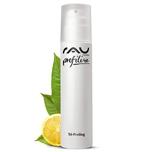 RAU Tri-Peeling Profiline 200 ml, hochwirksames Gel Peeling mit Anti-Aging Wirkstoff Weisser Tee und dem enzymatischen Wirkstoff der Papaya - Tri Peeling - 3-fach Wirkung, Fruchtsäurepeeling und Enzympeeling