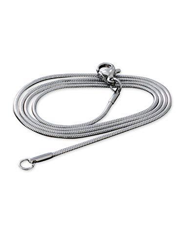 Fly Style Schlangenkette Edelstahl Silber 0.9mm I 1.2mm I 2mm I 3mm · Halskette Herren Damen · 41-76cm, Längen:ca. 46.0 cm, Stärke:2 mm