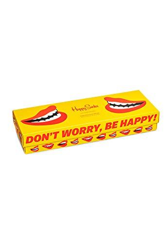 Happy Socks Dont worry be Happy - Confezione regalo con 5 paia di calzini Dont't Worry Be Happy 41/46 IT