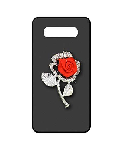 Sunrive Funda para Samsung Galaxy J5 2016, Brillo Bling Rhinestone Crystal Silicona Mate Slim Fit Gel 3D Carcasa Case Bumper de Impactos y Anti-Arañazos Espalda Cover(Rosa roja)