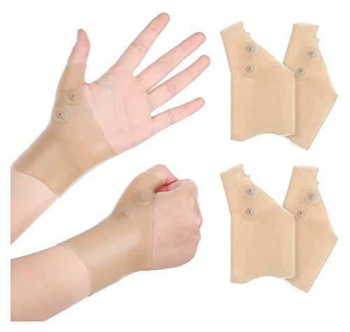 Beapet 2 Pares de Gel Pulgar Thumb Braces muñeca Mano Pulgar Guantes Impermeable muñeca Manga de compresión Dura Pulgar Artritis Abraza para Escribir Dolor de Dolor, Hombres y Mujeres