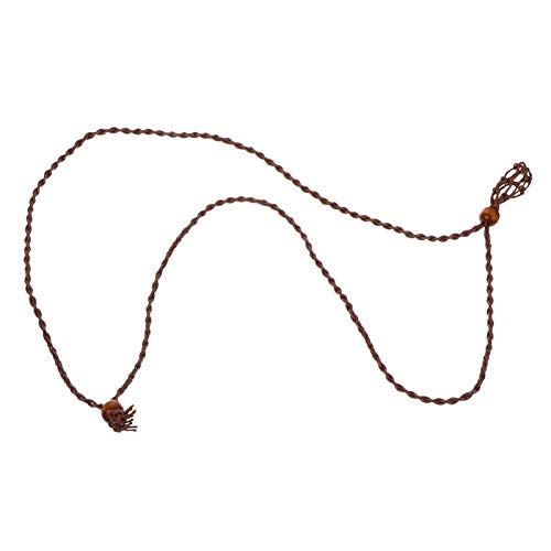 MILISTEN Halskette Schnur Leere Stein Halter Quarz Stein Halskette Schnur Halskette Schnur für Kristalle Anhänger Stein Halter Kaffee Farbe