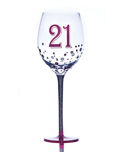 personnalisé Boxer 21 21e anniversaire Grande Sparkle 700 ml Verre à vin dans une boîte cadeau – Ajoutez votre propre Message