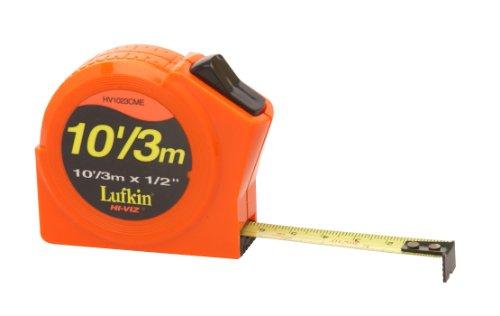 706D 1//2 x 100 Hi-Viz Orange Linear Engineers Fiberglass Tape Measure Cooper Tools Crescent Lufkin