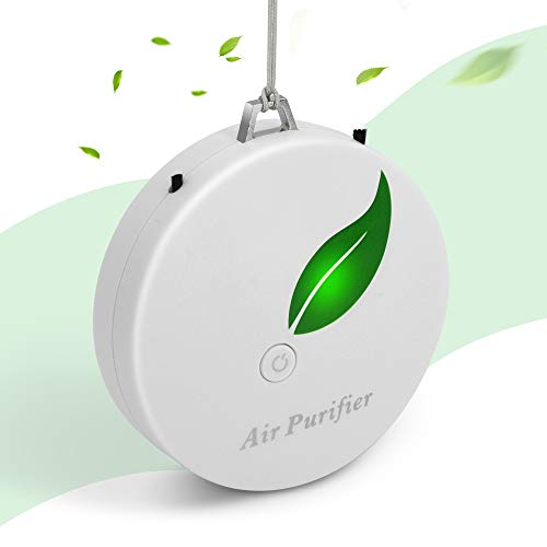 Aibrisk negative ion personal air purifier for home mini portable wearable air purifier necklace for car bedroom kitchen