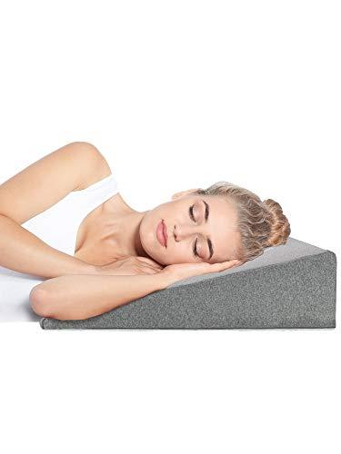 DYNMC you Vernieuwing van de winnaar wigvormige kussen 90 cm - matraswig voor comfortabel en gezond slapen - Oeko TEX 100 katoenkwaliteit - Reflux kussen - leeskussen bedwig 2 cm geheugenschuim