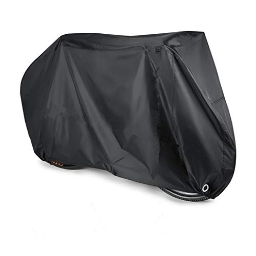 FFLSDR Waterproof Portable Bike Dust Cover Sun Rain Cover Mountain Bike Road Bike Motorcycle Scooter Outdoor Protective Sleeve (Color : Black, Size : L)