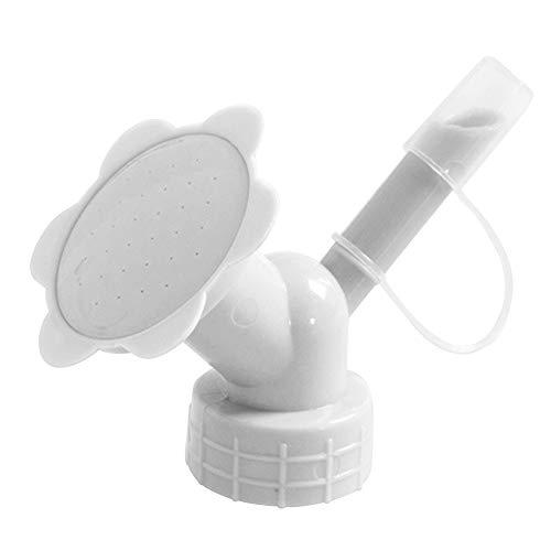 Accesorio para riego,Aspersor con tapón para Botella, regadera para Bonsai de plástico de Doble Cabeza para regar Plantas de Interior (Gris)
