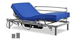 Gerialife® Cama articulada con colchón Sanitario viscoelástico