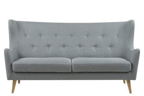 AC Design Furniture Sofa Karin, B: 201 x T:89 x H: 105 cm, Stoff, Grau