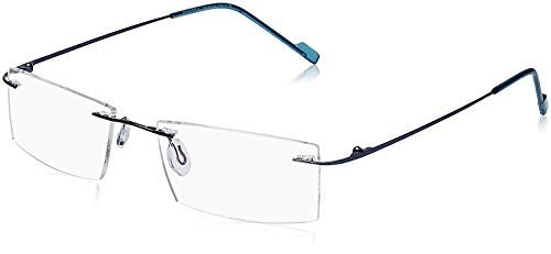 EFASHIONUP UV Rimless Rectangular Men's and Women's Spectacle Frame (f2, 50, Transparent)