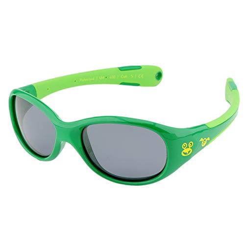 ActiveSol BABY-Sonnenbrille | JUNGEN | 100% UV 400 Schutz | polarisiert | unzerstörbar aus flexiblem Gummi | 0-2 Jahre | 18 Gramm (L, Monster)