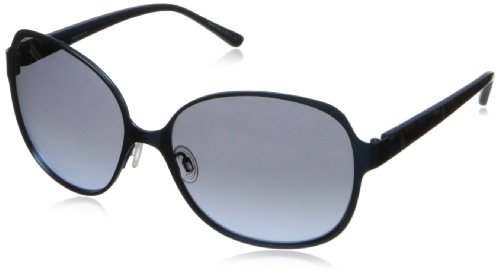 Kensie Women's Check Me in Square Sunglasses, Slate, 57 mm