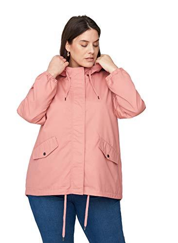 Zizzi Große Größen Damen Kurze Jacke mit Taschen und Kapuze Gr 54-56 Rosa