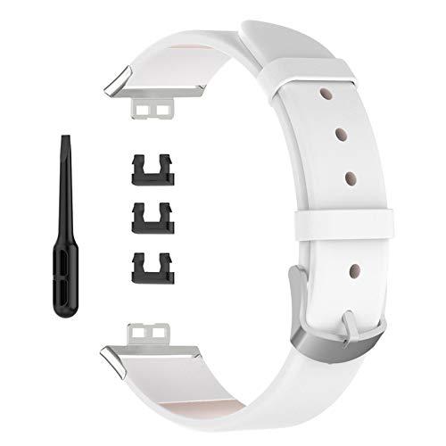 Vssictor Correa Compatible con la Correa de Reloj Huawei, Correa de Repuesto de Cuero Suave para el Reloj Inteligente Huawei Watch FIT