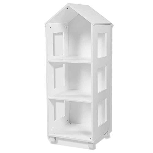 Shisyan Librería Biblioteca de la rejilla de alambre DIY Multi-uso Modular Estantería de estantería, gabinete de armario de organizador abierto para libros y juguetes (Color: Blanco, Tamaño: 117.5x40x