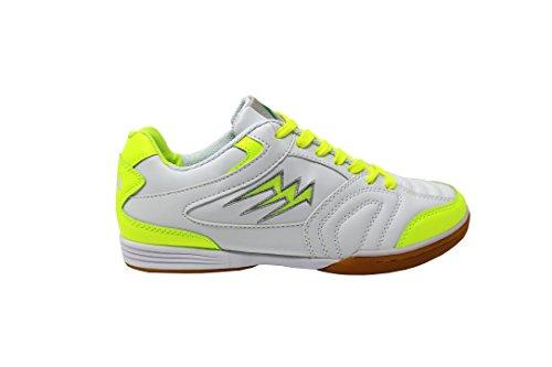 Agla F/40 Scarpe Da Futsal Indoor, Bianco/Giallo Fluo, 26 cm/41