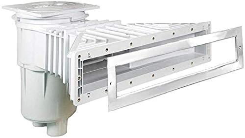 well2wellness® Skimmer Slim-Line para piscina, ABS, 17,5 L, plástico para piscinas con...