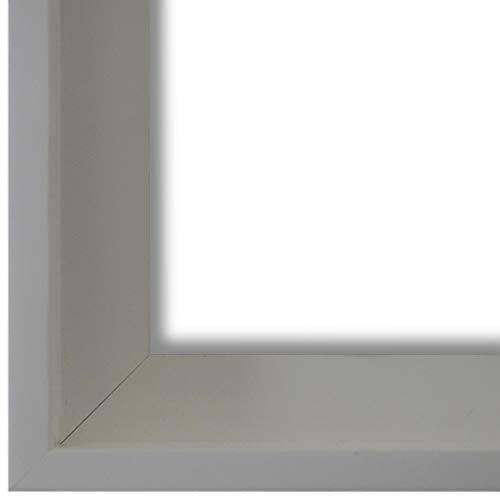 Schattenfugenrahmen Bilderrahmen Weiß 60 x 80 - 60 x 80 cm - Modern, Shabby, Vintage - Alle Größen - handgefertigter Holz Rahmen für Bilder - Leinwand auf Keilrahmen oder Platte - LR - Udine