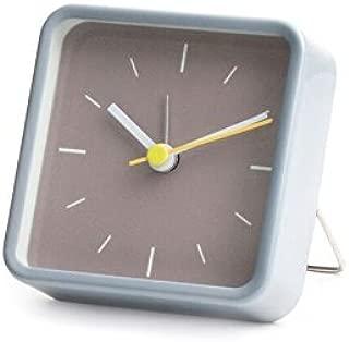 Kikkerland Square Alarm Clock, Gray