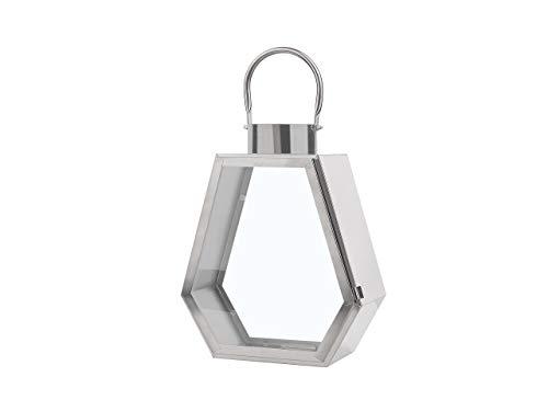 Beliani Dekorative Laterne Silber Corsica