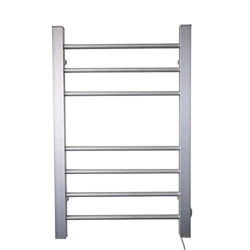 MIJOGO badkamerradiator van aluminium badkamer ladder radiator stekker in wandmontage bekleding warmer rack koeler (straight, 120W)