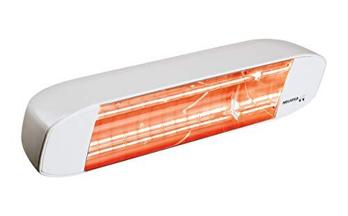 Heliosa 11 11BX5 Heizstrahler Terassenstrahler Infrarotstrahler 1500 Watt (leistungsstark) IPX5, aus robustem Aluminium-Druckguss hergestellt und mit thermoplastischen Lacken für den Außenbereich lackiert. Kurzwellen - Heizstrahler für Indoor und Outdoor geeignet, Farbe: Ral 9016 Weiß