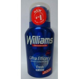 3 x Williams deo 75 ml concentrado equivale a 150 ml 0% alcohol