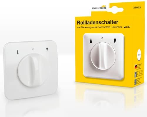 Schellenberg 25003 Rollladenschalter Drehknopf zur Unterputzmontage, Tast- und Rastfunktion möglich