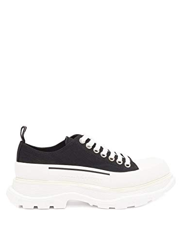 Alexander McQueen White/Black Chunky Low Top Sneakers New/Authentic FW20 (9)