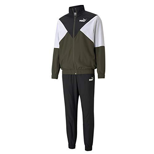 PUMA Woven Suit Open Jogging & Sportbekleidung Herren Schwarz/Kaki - S - Jogginganzüge Pants
